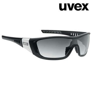 Chad UVEX black matte unisex sunglasses